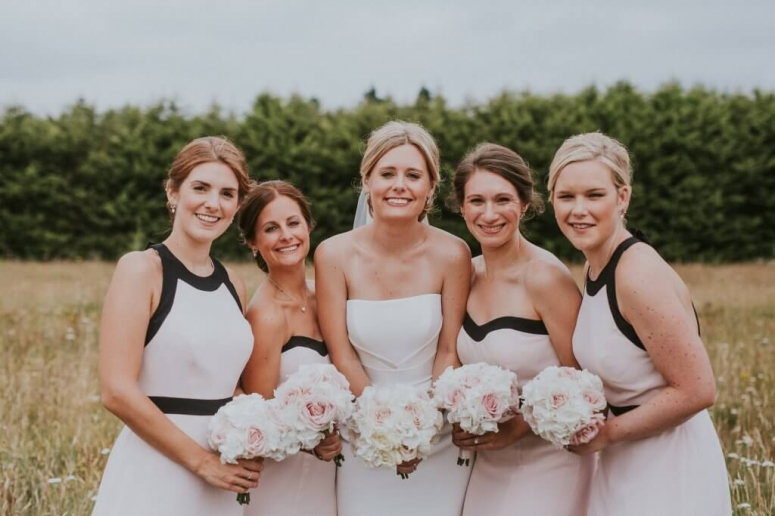 Surrey wedding bridal party make-up